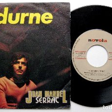 Disques de vinyle: JOAN MANUEL SERRAT - EDURNE / DECIR AMIGO - SINGLE NOVOLA 1974 BPY. Lote 241683660