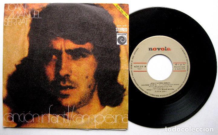 JOAN MANUEL SERRAT - CANCIÓN INFANTIL / CAMPESINA - SINGLE NOVOLA 1974 BPY (Música - Discos - Singles Vinilo - Solistas Españoles de los 70 a la actualidad)