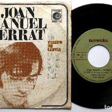 Discos de vinilo: JOAN MANUEL SERRAT - PENÉLOPE / TIEMPO DE LLUVIA - SINGLE NOVOLA 1969 BPY. Lote 241700960