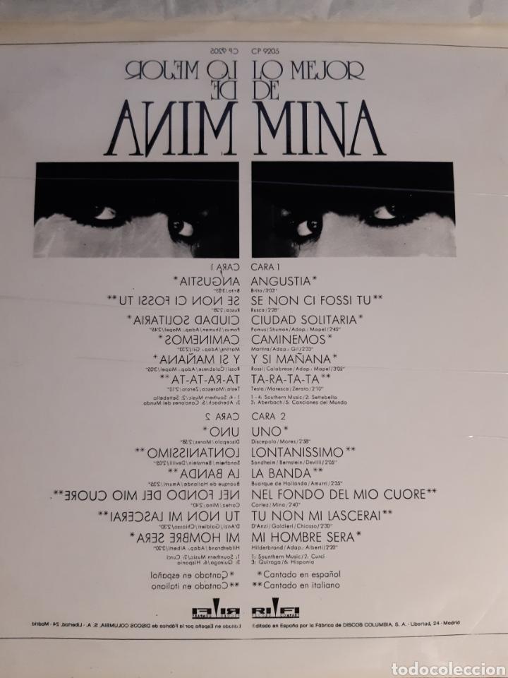 Discos de vinilo: LP LO MEJOR DE MINA (NUEVO) - Foto 2 - 241713225