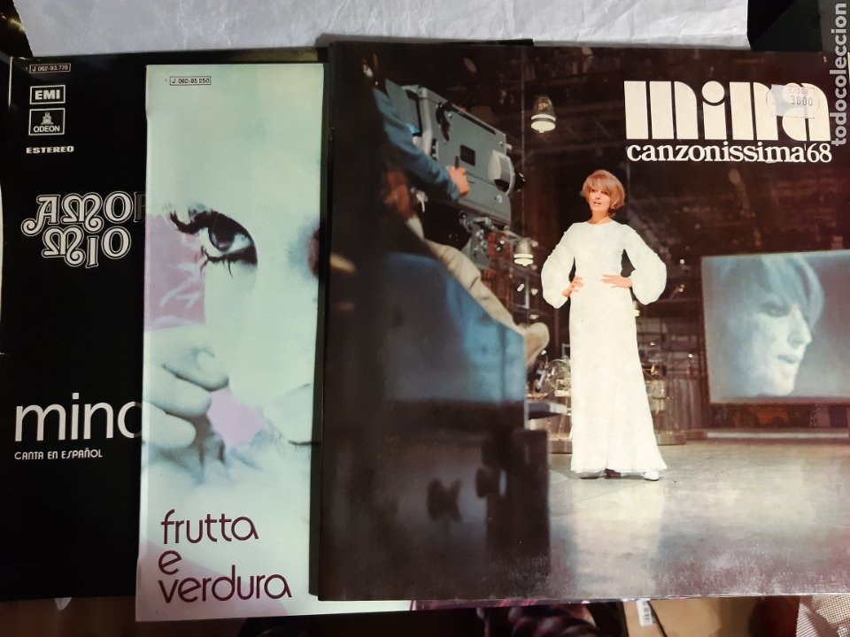 3 LP MINA CANZONISSIMA 68, FRUTTA E VERDURA, AMOR MIO (Música - Discos - LP Vinilo - Canción Francesa e Italiana)