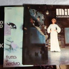 Discos de vinilo: 3 LP MINA CANZONISSIMA 68, FRUTTA E VERDURA, AMOR MIO. Lote 241714195