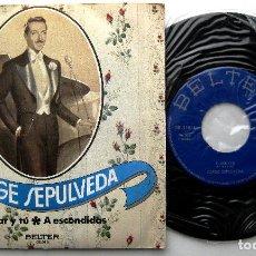 Discos de vinilo: JORGE SEPULVEDA - EL MAR Y TÚ / A ESCONDIDAS - SINGLE BELTER 1971 BPY. Lote 241734315