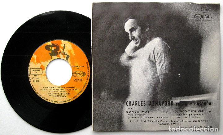 Discos de vinilo: Charles Aznavour - Canta En Español - Désormais... (Nunca Más) - Single Movieplay / Barclay 1970 BPY - Foto 2 - 241755365