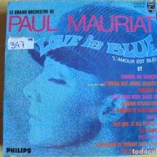 Disques de vinyle: LP - PAUL MAURIAT - LOVE IS BLUE (SPAIN, PHILIPS 1968). Lote 241757060