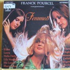Disques de vinyle: LP - FRANCK POURCEL - FEMMES (SPAIN, EMI ODEON 1976). Lote 241761595