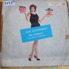 Disques de vinyle: LP - BOB THOMPSON, SUS COROS Y ORQUESTAS - MMM, NICE (SPAIN, RCA 1960). Lote 241778030