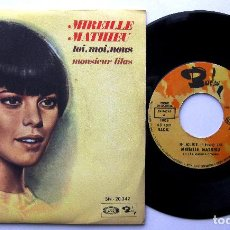 Discos de vinilo: MIREILLE MATHIEU - TOI, MOI, NOUS / MONSIEUR LILAS - SINGLE MOVIEPLAY / BARCLAY 1970 BPY. Lote 241783040