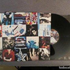 Discos de vinilo: U2: ACHTUNG BABY (SPANISH L.P.) !! 1º EDICION!!! NUNCA USADO!!DOBLE INNER !!!!. Lote 241785090