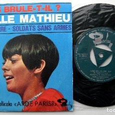 Discos de vinilo: MIREILLE MATHIEU - PARIS EN COLÈRE - SINGLE BARCLAY 1966 BPY. Lote 241786340