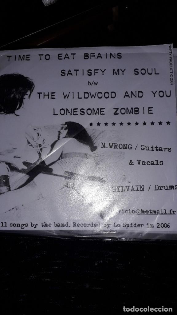 """Discos de vinilo: E.P. 7"""" 45 RPM - EL VICIO - TIME TO EAT BRAINS + 3 (NASTY PRODUCT, FRANCE, 2006) - Foto 2 - 241793710"""