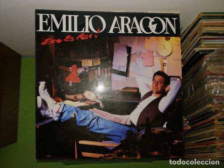 DOS DISCOS. EMILIO ARAGON ESO ES ASI Y TOP TEN CLUB, 2 DISCOS (Música - Discos de Vinilo - Maxi Singles - Techno, Trance y House)