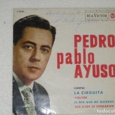Discos de vinilo: PEDRO PABLO AYUSO - FIRMANDO POR EL ARTISTA. Lote 241809285