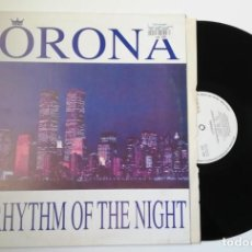 Discos de vinilo: ANTIGUO VINILO / OLD VINYL: CORONA, THE RYTHM OF THE NIGHT ( MAXI 1993 ELECTRONIC). Lote 241813320