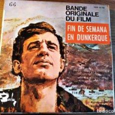 Discos de vinilo: FIN DE SEMANA EN DUNKERKE BSO **** RARO EP ESPAÑOL 1965 BELMONDO. Lote 241822950