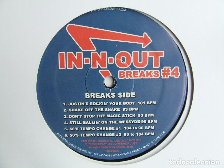 Discos de vinilo: PROMOWAX IN-N-OUT BREAKS#4 LP PARA DISC JOCKEYS MADE IN USA M. KELLY MR. CHEEKS FUNK HIP HOP - Foto 3 - 241852960