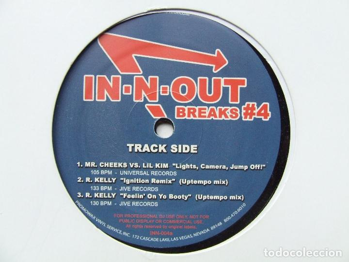 Discos de vinilo: PROMOWAX IN-N-OUT BREAKS#4 LP PARA DISC JOCKEYS MADE IN USA M. KELLY MR. CHEEKS FUNK HIP HOP - Foto 4 - 241852960