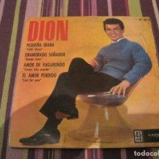 Discos de vinilo: EP DION PEQUEÑA DIANA HISPAVOX 00741 SOLO PORTADA ONLY COVER. Lote 241869475