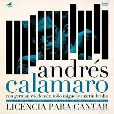 Discos de vinilo: ANDRÉS CALAMARO * VINILO 10 PULGADAS RECORD STORE DAY 2017 *LICENCIA PARA CANTAR * PRECINTADO. Lote 241903475