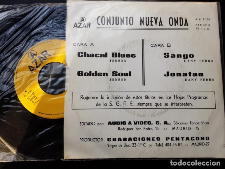 Discos de vinilo: EP CONJUNTO NUEVA ONDA, CHACAL BLUES, GOLDEN SOUL, SANGO, JONATAN - Foto 2 - 241921115