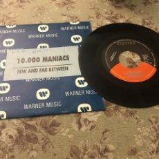 "Discos de vinilo: 10.000 MANIACS, VINILO 7"" (FEW AND FAR BETWEEN). Lote 241925320"