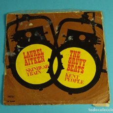 Discos de vinil: LAUREL AITKEN - SKINHEAD TRAIN / THE GRUVY BEATS - KENT PEOPLE. 1971. Lote 241998490