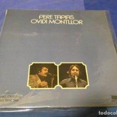 Discos de vinilo: EXPRO LP OVIDI MONTLLOR Y PERE TAPIES VINILO OK EDICION ESPECIAL PARA BANCO 1974. Lote 242005905