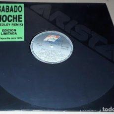 Discos de vinil: MAXI SINGLE - SABADO NOCHE - MEDLEY REMIX - PROMO - EDICIÓN LIMITADA. Lote 242036465