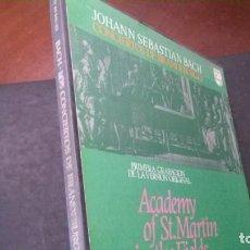 Discos de vinilo: JOANN SEBASTIAN BACH-CONCIERTOS DE BRANDEBURGO-ACADEMY OF ST. MARTIN IN THE FIELDS. Lote 242044960