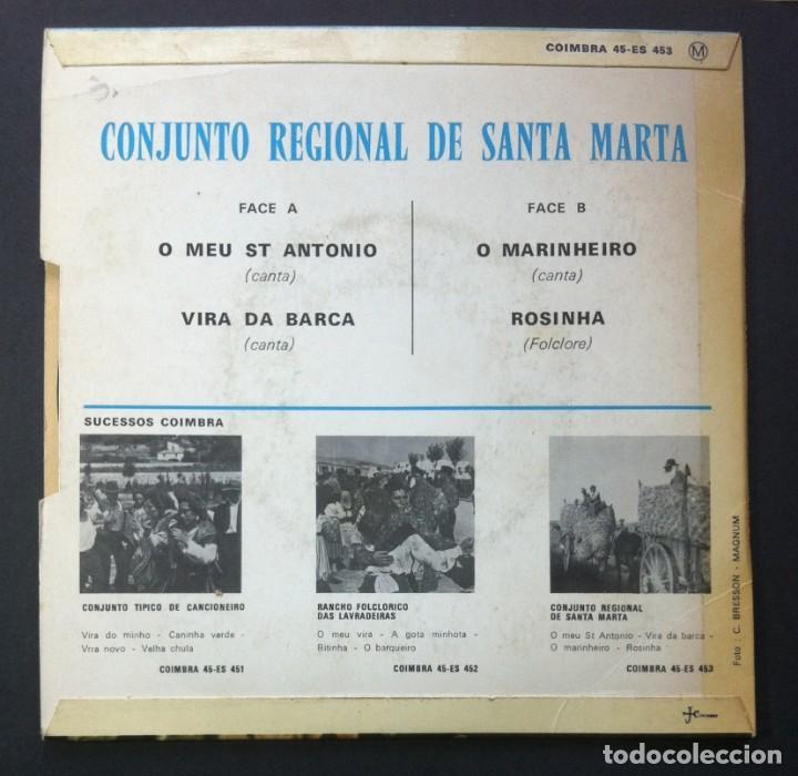 Discos de vinilo: CONJUNTO REGIONAL DE SANTA MARTA - O Meu St Antonio - EP FRANCES - COIMBRA - Foto 2 - 242071695