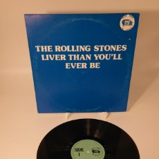 Discos de vinilo: ROLLING STONES–LIVE'R THAN YOU'LL EVER BE/ EARLIEST COMMERCIAL BOOTLEG RECORDINGS IN ROCK HISTORY. Lote 242081615