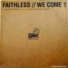 Discos de vinilo: FAITHLESS, WE COME 1, UK 2001, PROMO, CHEEKY RECORDS CHEEKY002A, EXCELENTE ESTADO (EX_EX). Lote 242086240
