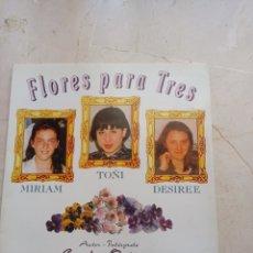 Discos de vinilo: DISCO VINILO CARLOS ORTEGA FLORES PARA TRES MAXI SINGLE 1992 SPAIN. Lote 242089240