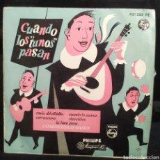 Discos de vinilo: ESTUDIANTINA DE MADRID - CUANDO LOS TUNOS PASAN 1960. Lote 242117155