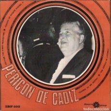 Discos de vinilo: PERICON DE CADIZ - CUANDO YO ME MUERA, SIN CEDULA NI LICENCIA / EP IBERO PLAY 1966 RF-4830. Lote 242131420
