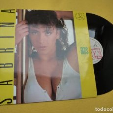 "Discos de vinilo: 12"" SABRINA ‎– BOYS - INDALO MUSIC ‎– INDX-114 - SPAIN PRESS Ç 3. Lote 242135970"