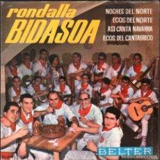 Discos de vinilo: RONDALLA BIDASOA - NOCHES DEL NORTE / ECOS DEL NORTE / ASI CANTA NAVARRA // EP 1964 RF-4845. Lote 242139130