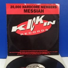 Disques de vinyle: MAXI SINGLE DISCO VINILO 20000 HARDCORE MEMBERS MESSIAH. Lote 242159425
