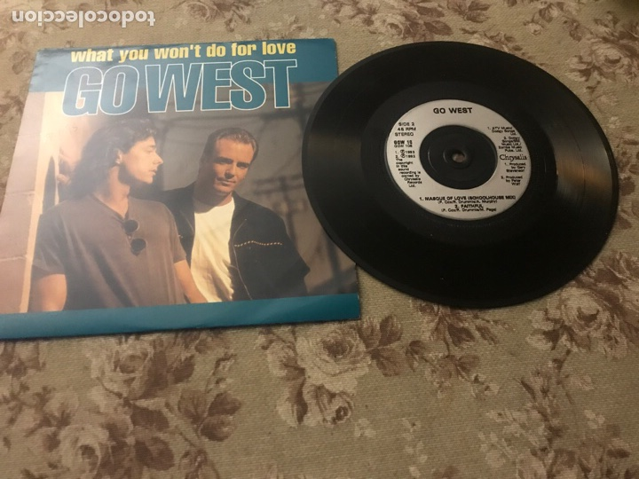 """GO WEST, VINILO 7"""" (MASQUE OF LOVE) (Música - Discos de Vinilo - Singles - Pop - Rock Internacional de los 80)"""
