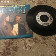 "Discos de vinilo: GO WEST, VINILO 7"" (MASQUE OF LOVE). Lote 242208545"