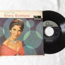Discos de vinilo: BAILE CON ELVIRA QUINTANA -- SABRAS QUE TE QUIERO +3. Lote 242213180