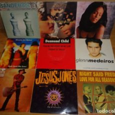 Discos de vinilo: LOTE 9 SINGLES POP ROCK INTERNACIONAL AÑOS '90. Lote 242228280