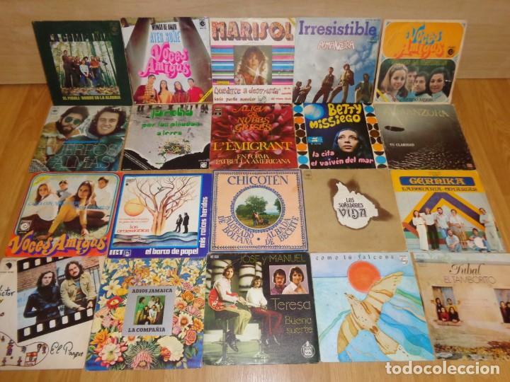 LOTE 20 VINILOS CONJUNTOS FOLK-ROCK IBERICOS AÑOS '70 (Música - Discos - Singles Vinilo - Country y Folk)