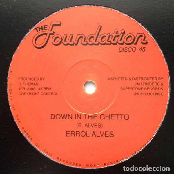 "ERROL ALVES - DOWN IN THE GHETTO / SUN IS SHINING - 12"" [THE FOUNDATION, 2017] ROOTS REGGAE DUB (Música - Discos - Singles Vinilo - Reggae - Ska)"