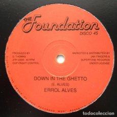 """Discos de vinilo: ERROL ALVES - DOWN IN THE GHETTO / SUN IS SHINING - 12"""" [THE FOUNDATION, 2017] ROOTS REGGAE DUB. Lote 259055895"""