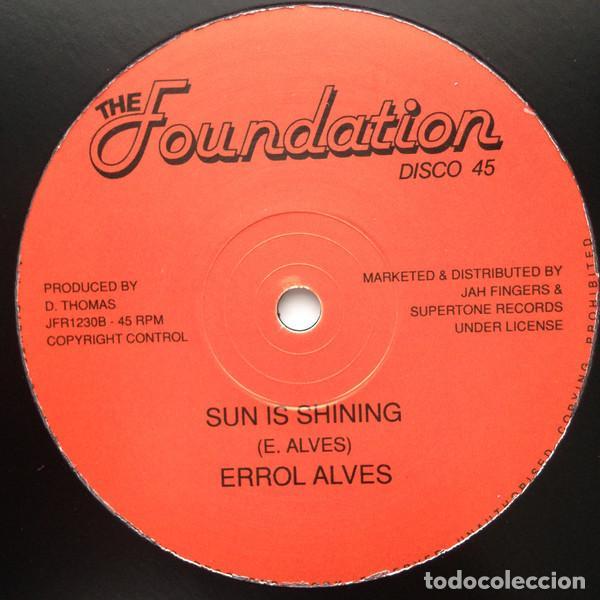 """Discos de vinilo: Errol Alves - Down In The Ghetto / Sun Is Shining - 12"""" [The Foundation, 2017] Roots Reggae Dub - Foto 2 - 259055895"""