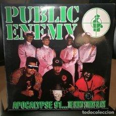 Disques de vinyle: DISCO VINILO PUBLIC ENEMY APOCALYPSE 91... THE ENEMY STRIKES BLACK LP X 2 DEF JAM RECORDINGS ESPAÑA. Lote 242245445