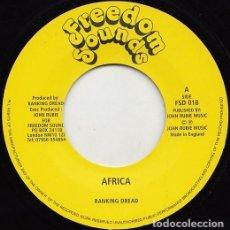 "Discos de vinilo: RANKING DREAD - AFRICA - 7"" [FREEDOM SOUNDS, 2010] ROOTS REGGAE DUB. Lote 242247655"