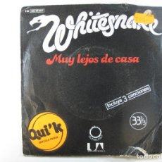 Discos de vinilo: EP WHITESNAKE · MUY LEJOS DE CASA (UNITED ARTISTS, 1980) (CARPETA ESTROPEADA. DISCO COMO NUEVO). Lote 242273245