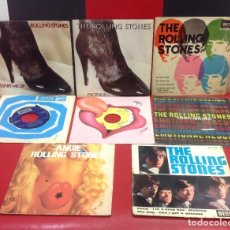Disques de vinyle: ROLLING STONES, LOTE DE 8 SINGLES Y EPS. Lote 242295675